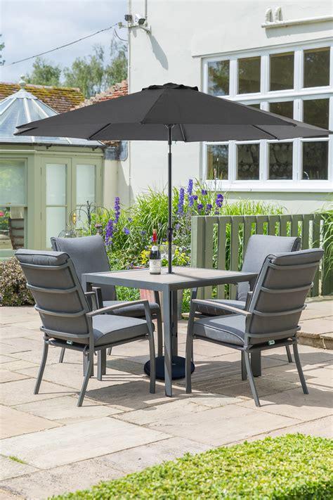 LG Outdoor Milan Aluminium 4 Seat Garden Furniture Set ...