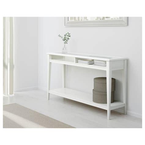 LIATORP Consola, blanco, vidrio, 133x37 cm   IKEA