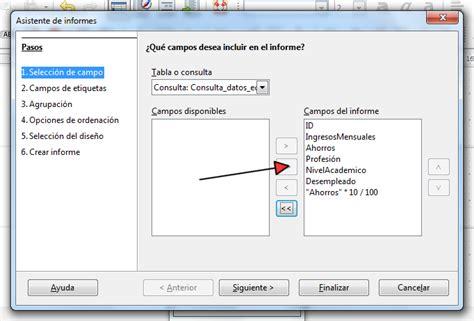 LibreOffice Base   Informe generado con el asistente ...