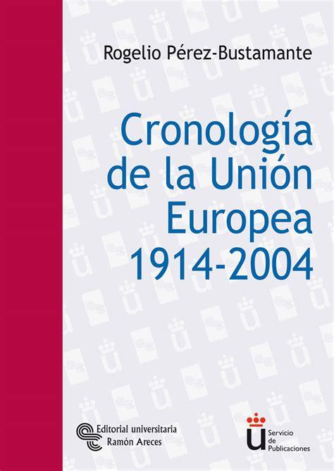 Libro: Cronología de la Unión Europea   9788480046558 ...