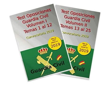 Libro de Test para las oposiciones a Guardia Civil