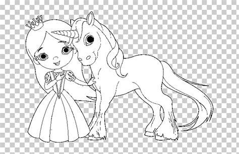 Libro para colorear La princesa y el hada unicornio ...