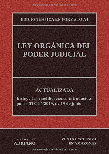 Libro PDF Gratis Ley Orgánica del Poder Judicial  Edición ...