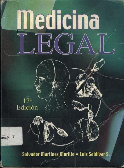 """Libro """"Medicina Legal"""" de Salvador Martínez Murillo y Luis ..."""