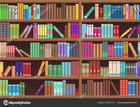 Libros de literatura de estante de libro de biblioteca de ...