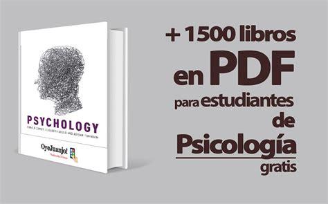 Libros para estudiantes de Psicología  Gratis
