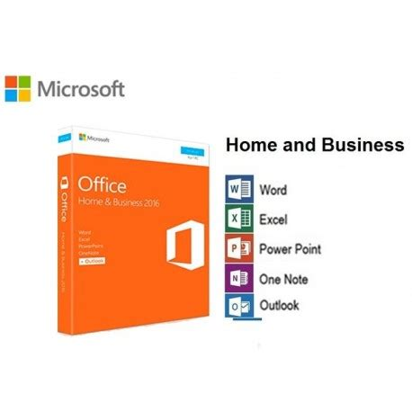 Licencia DVD Microsoft Office 2016 Home & Business 32/64 ...