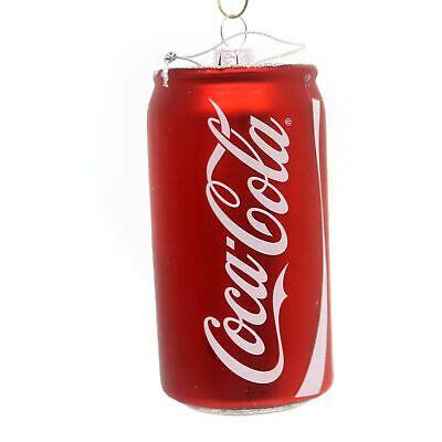 Licensed COCA COLA CAN ORNAMENT Glass Soda Christmas ...