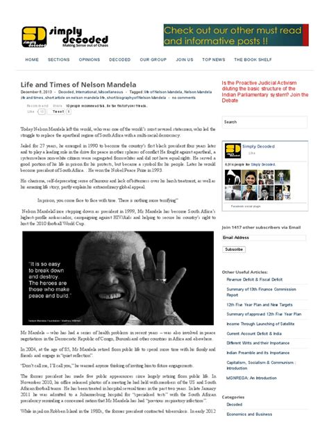 Life of Nelson Mandela , Short Biography of Nelson Mandela ...