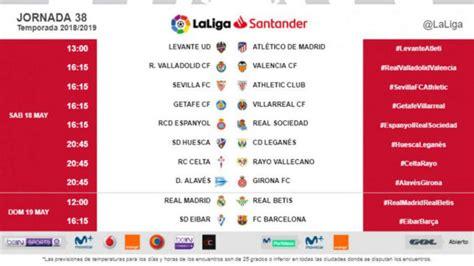 Liga Santander 2018 19: Confirmados los nuevos horarios de ...