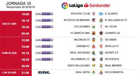 Liga Santander 2018 19: Horarios de la jornada 35: Se ...
