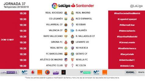 Liga Santander 2018 19: Oficial: los dos últimas jornadas ...