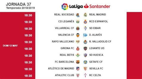 Liga Santander 2018 19: Una penúltima jornada de infarto ...