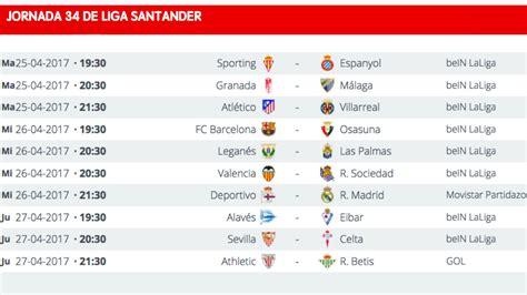 Liga Santander: clasificación, resultados, horario y ...