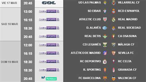Liga Santander: Horarios de la jornada 28: Athletic Madrid ...