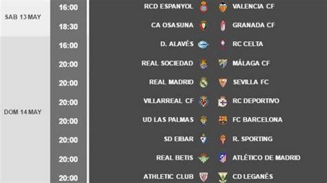 Liga Santander: Horarios de la jornada 37: la lucha por la ...