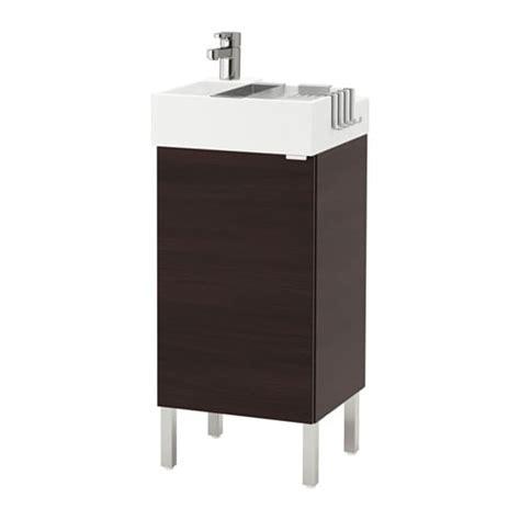 LILLÅNGEN Mobile per lavabo con 1 anta   inox, marrone ...