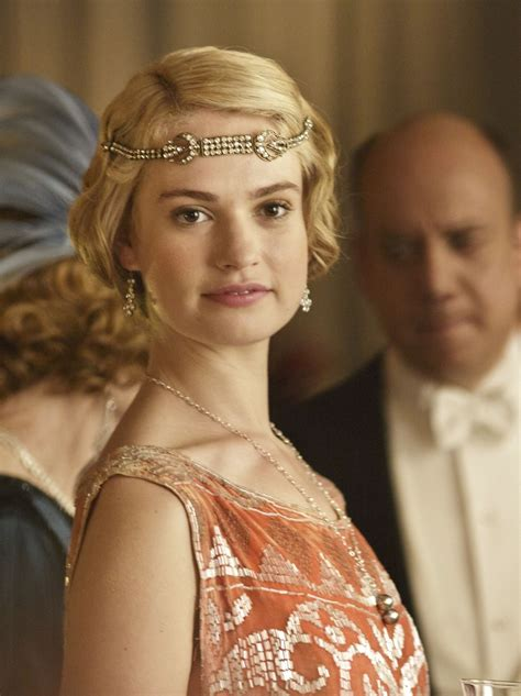 Lily James as Lady Rose MacClare in Downton Abbey Series 4 ...