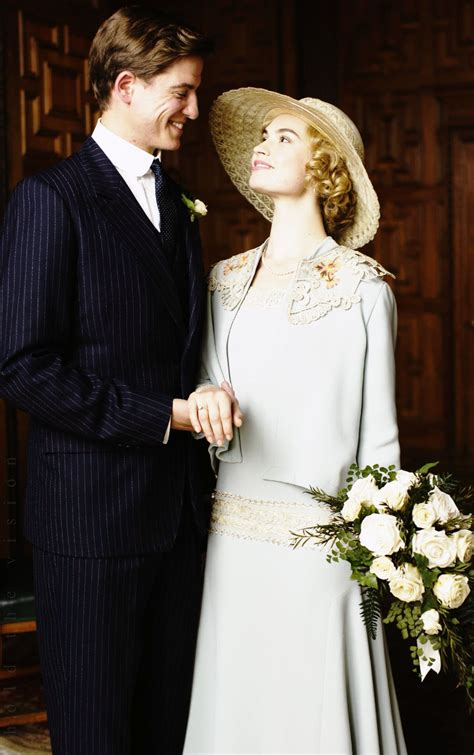 Lily James as Lady Rose MacClare + Matt Barber as Atticus ...