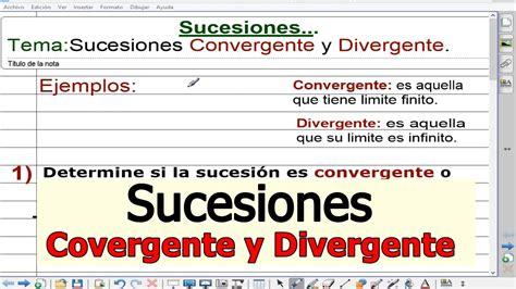Limites de una Sucesiones   Convergente y Divergente ...