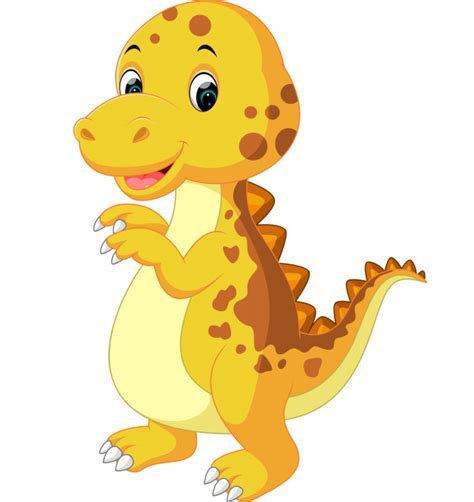 Lindo bebé dinosaurio de dibujos animados | Vector Premium