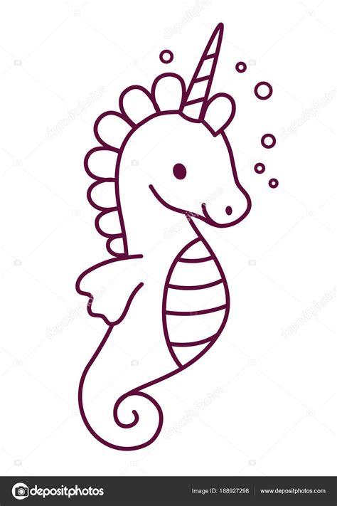 Lindo unicornio con ilustración de vector de dibujos ...