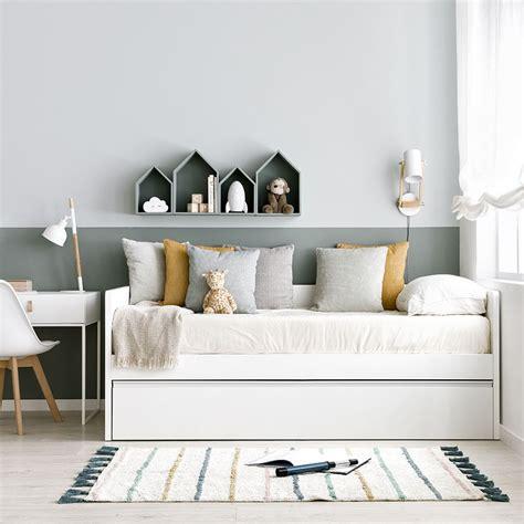 Line cama nido melamina blanco mate   Kenay Home