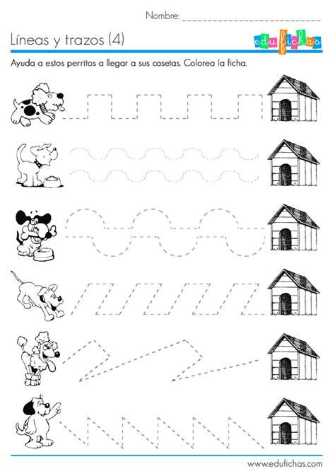 Líneas punteadas para niños de preescolar