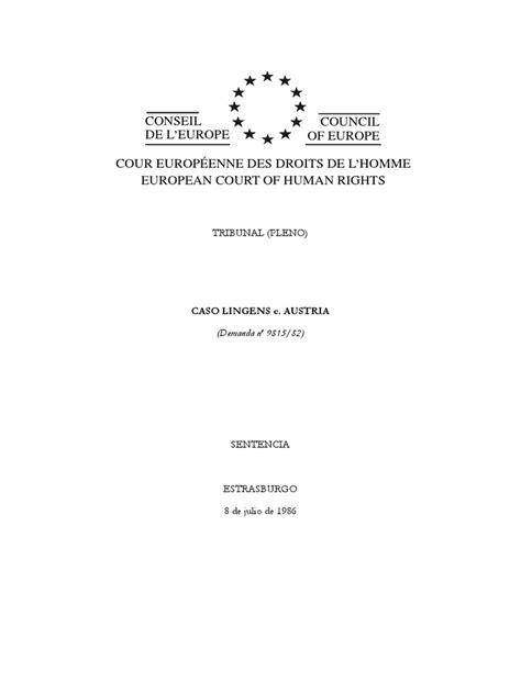 Lingens c. Austria.pdf | Convenio europeo de derechos ...