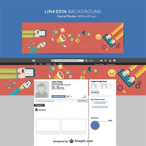 LinkedIn social media background Vector | Free Download