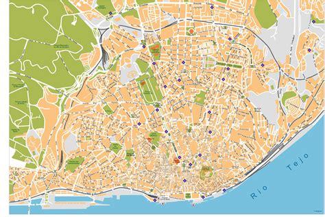 Lisboa City Vector Maps Lisbon | Illustrator vector maps