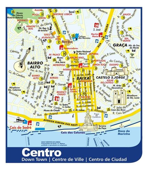 Lisbon Attractions Map PDF   FREE Printable Tourist Map ...