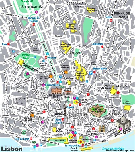 Lisbon City Center Map
