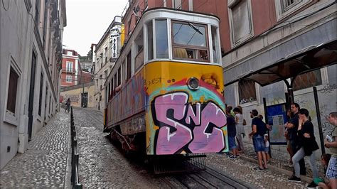 Lisbon funicular   Elevador da Glória   YouTube