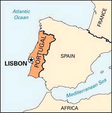 Lisbon: location    Kids Encyclopedia | Children s ...