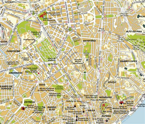 Lisbon Map and Lisbon Satellite Image