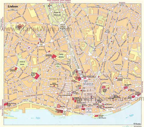 Lisbon Map   Tourist Attractions | Lisbon tourist ...