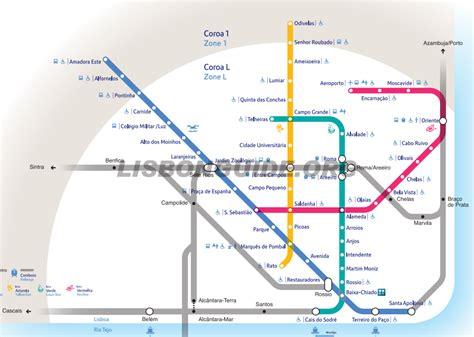 Lisbon Metro Subway Underground Map PDF   Updated 2020 ...
