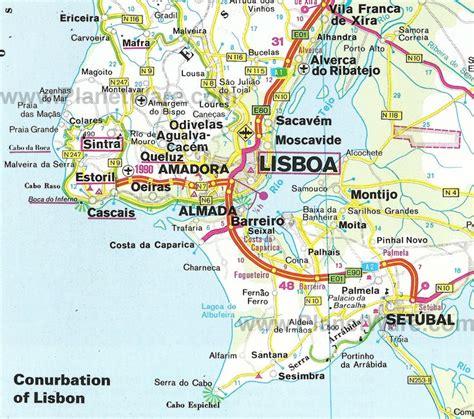 Lisbon Portugal Map | Conurbation of Lisbon Map | Lisbon ...