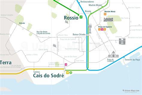 Lisbon Rail Map   A Smart City Guide Map, Even Offline!