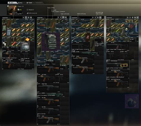 List of trader items by level? : EscapefromTarkov