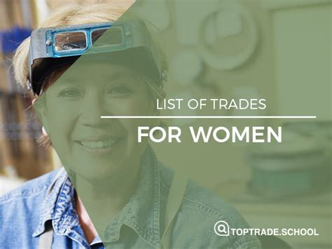 List of Trades for Women  is the same as the one for men
