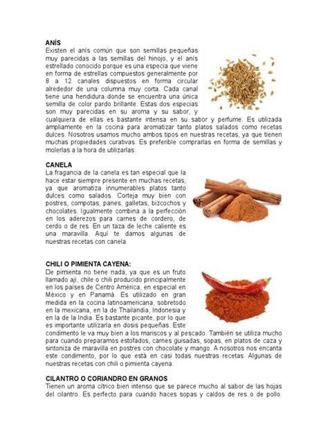 Lista de 50 Especias | Cilantro | Mostaza  Condimento