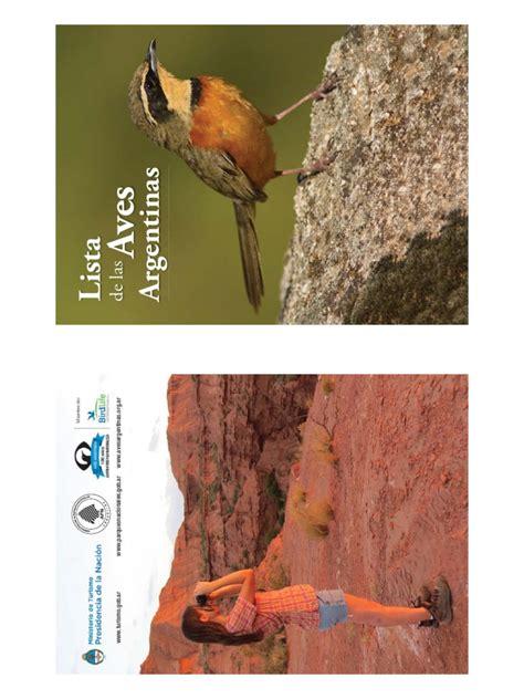 Lista de Aves Argentinas Imprimible   Aves   Tetrápodos