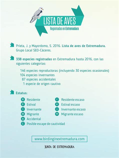 Lista de Aves by Extremadura Turismo   Issuu