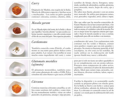 Lista De Especias Y Condimentos   SEONegativo.com