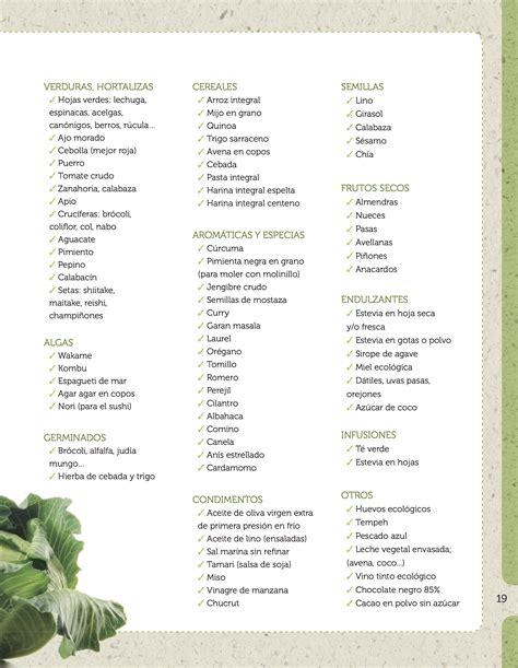 Lista de la compra: verduras, hortalizas, algas ...