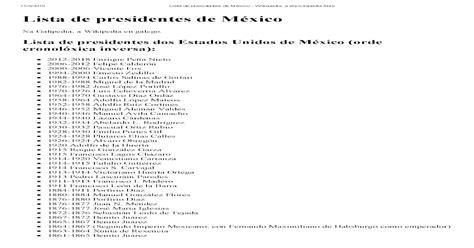 Lista de Presidentes de Mxico   [PDF Document]