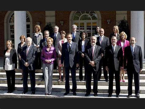Lista: El Gobierno de Zapatero