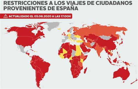 Listado de países que imponen cuarentena si viajas desde ...